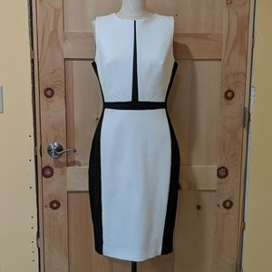 Black and White Color Block Dress